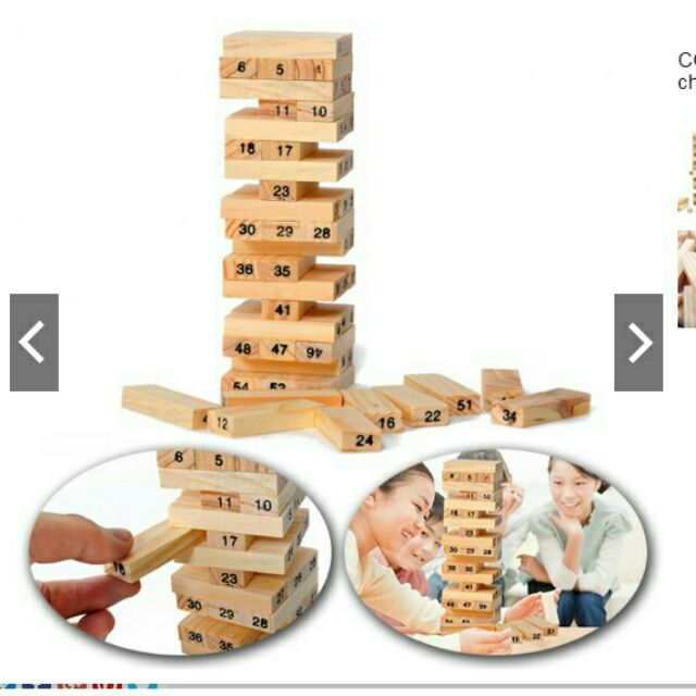 Bộ đồ chơi rút gỗ sáng tạo 54 chi tiết cho bé yêu