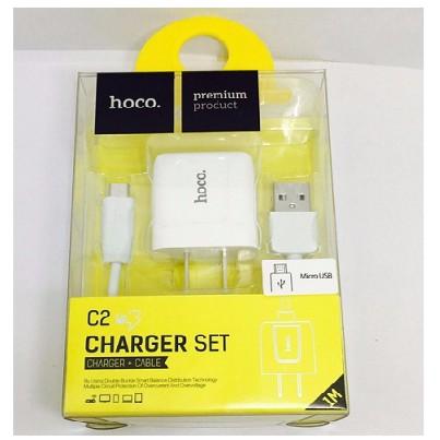 Deal Hot Bộ cáp và cốc sạc Hoco C2 2.1A - cổng Micro / Cổng lightning (iphone)