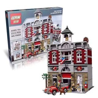 bộ đồ chơi lắp ráp Lego Creator 10197 Lepin 15004 Trụ Sở Cứu Hỏa