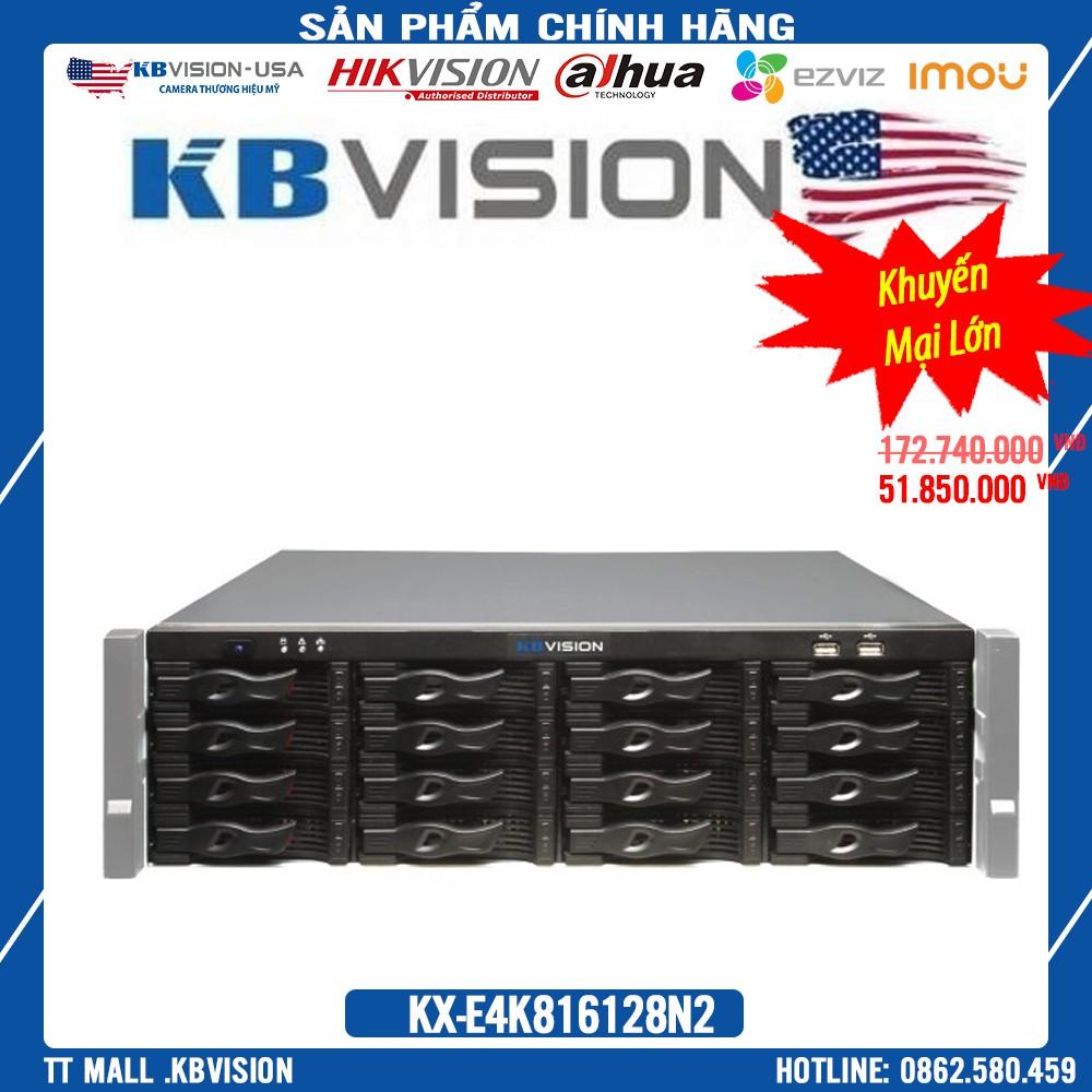 {hàng Cao Cấp Nhất,giá Rẻ Nhất} Đầu ghi camera IP 128 kênh 12 Megapixel KBVISION KX-E4K816128N2