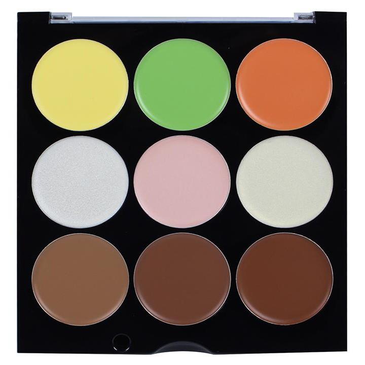 Bảng Kem Tạo Khối +Bắt Sáng 9 ô City Color All-In-One Cream Palette 23g