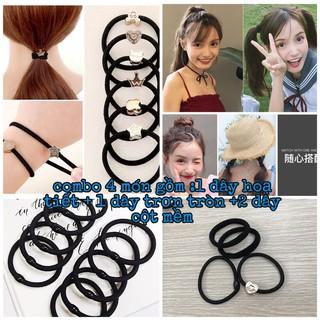 Dây cột tóc 4 sợi xinh xắn cho khách iu thumbnail