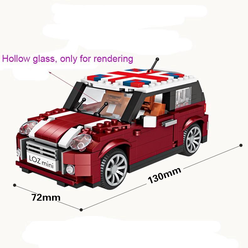 MB266 Mini Car Model 492Pcs DIY Diamond Mini Building Nano Blocks Toys