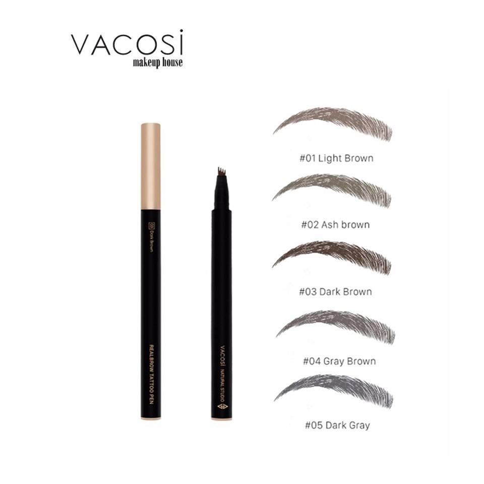 Bút Lông Kẻ Mày Dạng Xăm VACOSI Realbrow Tattoo Pen | Shopee Việt Nam