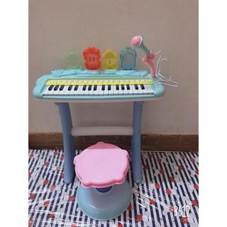 Đàn Piano Điện Tử Cao Cấp Cho Bé Có Ghế Có Chân Có Míc Hát Được
