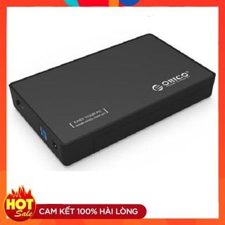 Hộp đựng ổ cứng PC 3.5″ HDD Box Orico 3588US3 USB 3.0 (màu đen) kèm adapter