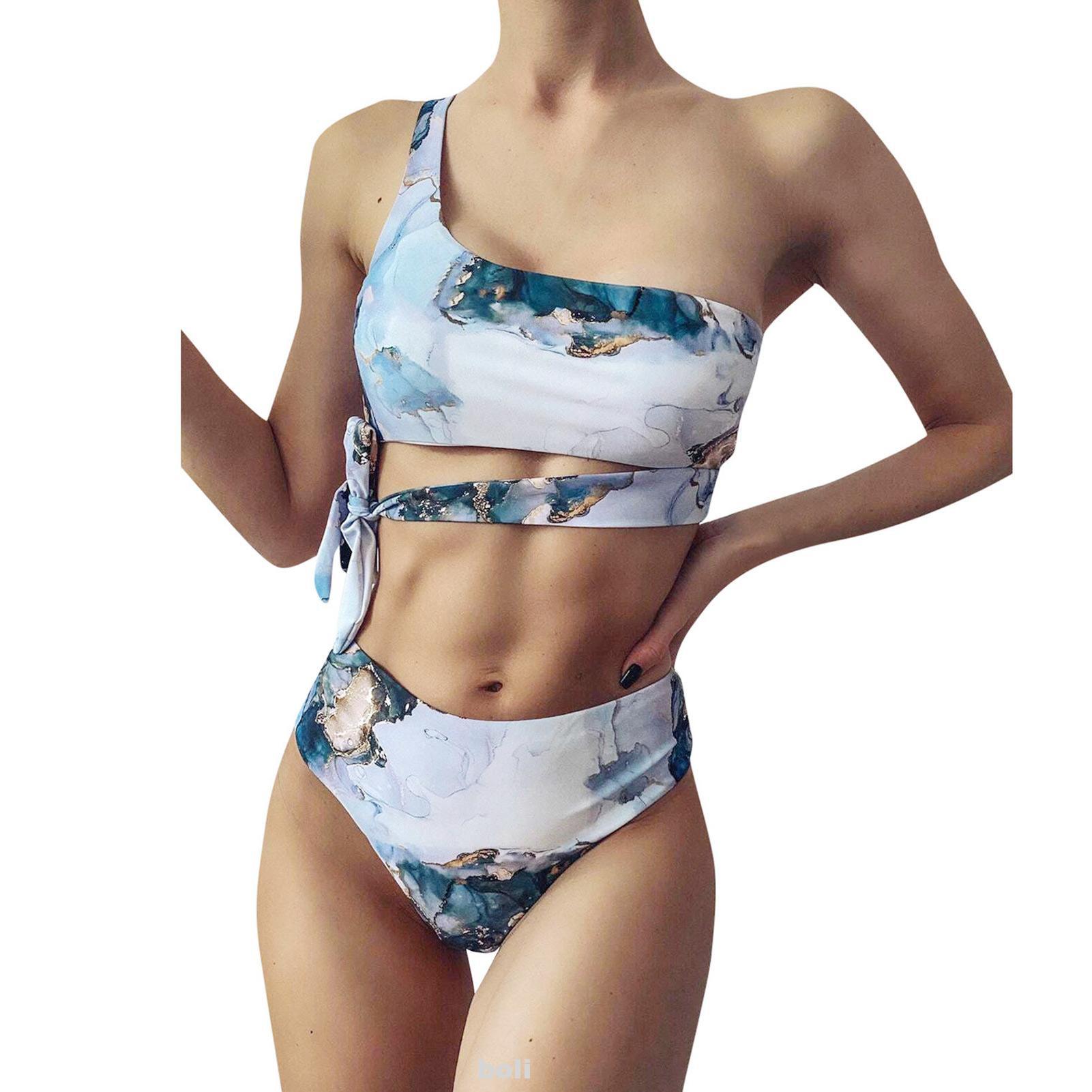 Bikini Nâng Ngực Không Gọng, Họa Tiết Đá Cẩm Thạch Dành Cho Nữ