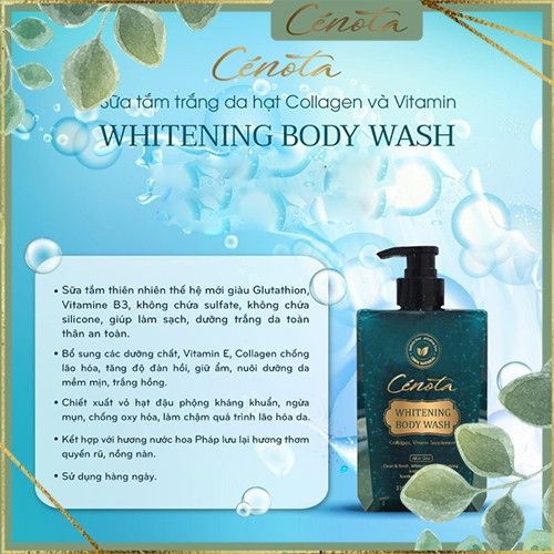 Sữa tắm trắng da hạt Collagen và Vitamin Whitening Body Wash, sữa tắm dưỡng da tươi sáng Mã C01 buny