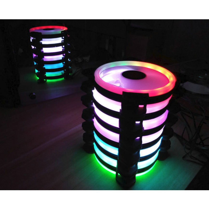Bộ 1, 3,5,6 Quạt LED RGB Coolmoon Sunshine Dual Ring Tặng Bộ Hub Kết Nối Nguồn Và Điều Khiển - THANH XUÂN