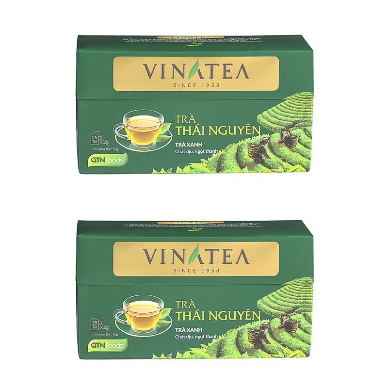 Combo 02 hộp trà Vinatea Thái nguyên túi lọc 50g ( 25 gói x 2gr) - 3455403 , 842643945 , 322_842643945 , 100000 , Combo-02-hop-tra-Vinatea-Thai-nguyen-tui-loc-50g-25-goi-x-2gr-322_842643945 , shopee.vn , Combo 02 hộp trà Vinatea Thái nguyên túi lọc 50g ( 25 gói x 2gr)
