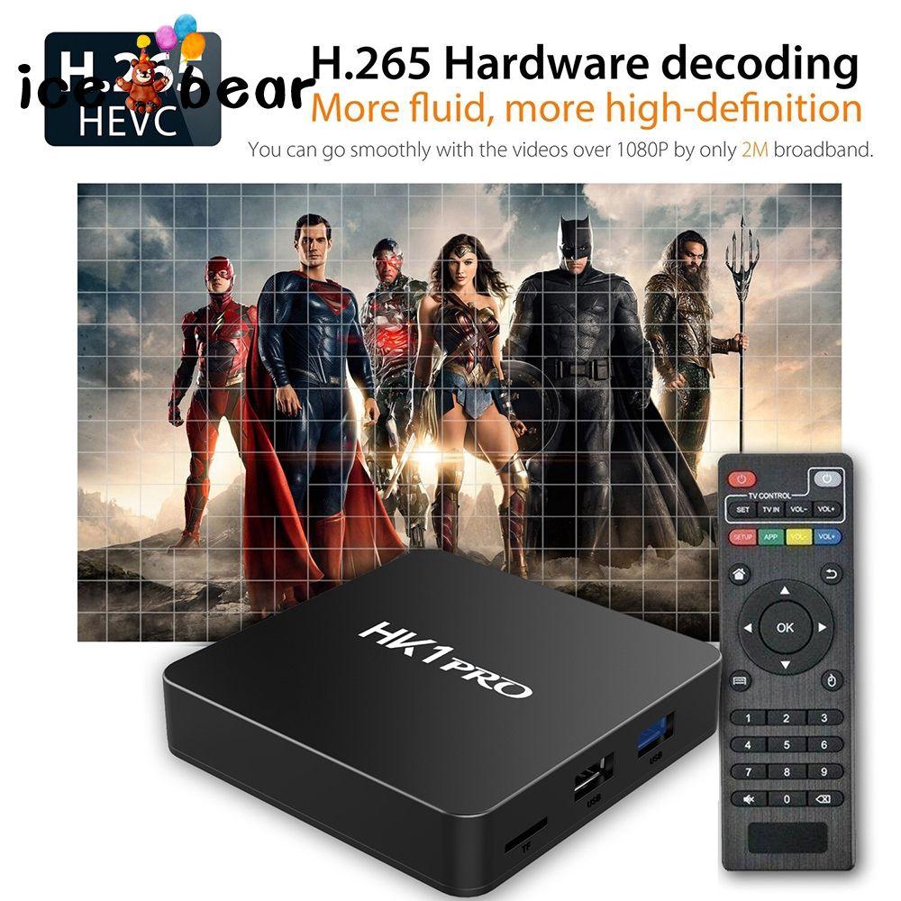 Bộ chuyển đổi tivi thông minh TV BOX wifi 2.4 GHz 5 GHz kết nối bluetooth chất lượng cao kèm phụ kiện
