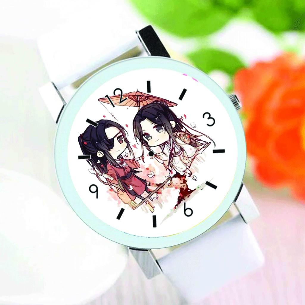 Đồng hồ đeo tay nam nữ in hình THIÊN QUAN TỨ PHÚC Mặc Hương Đồng Khứu anime chibi thời trang dễ thương