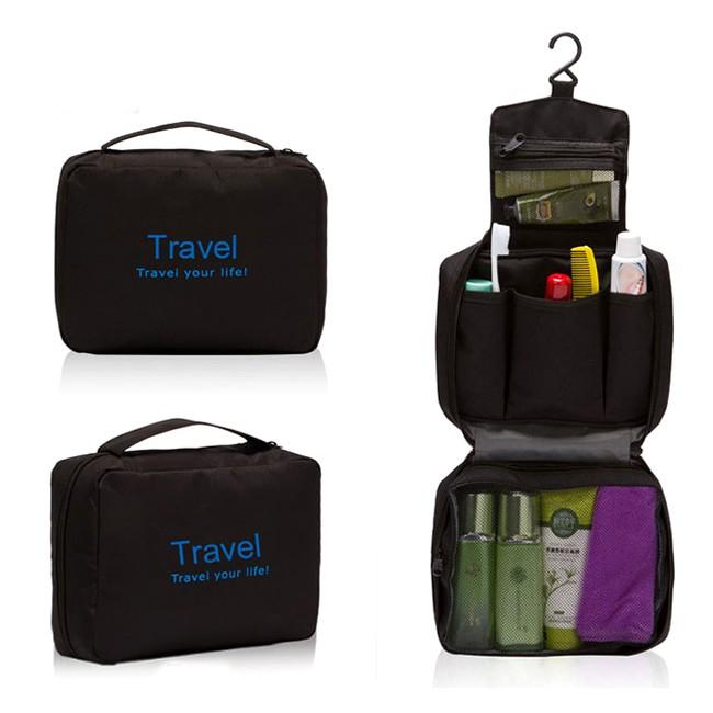 Túi đựng đồ du lịch cá nhân cho Nam dạng túi Travel móc treo