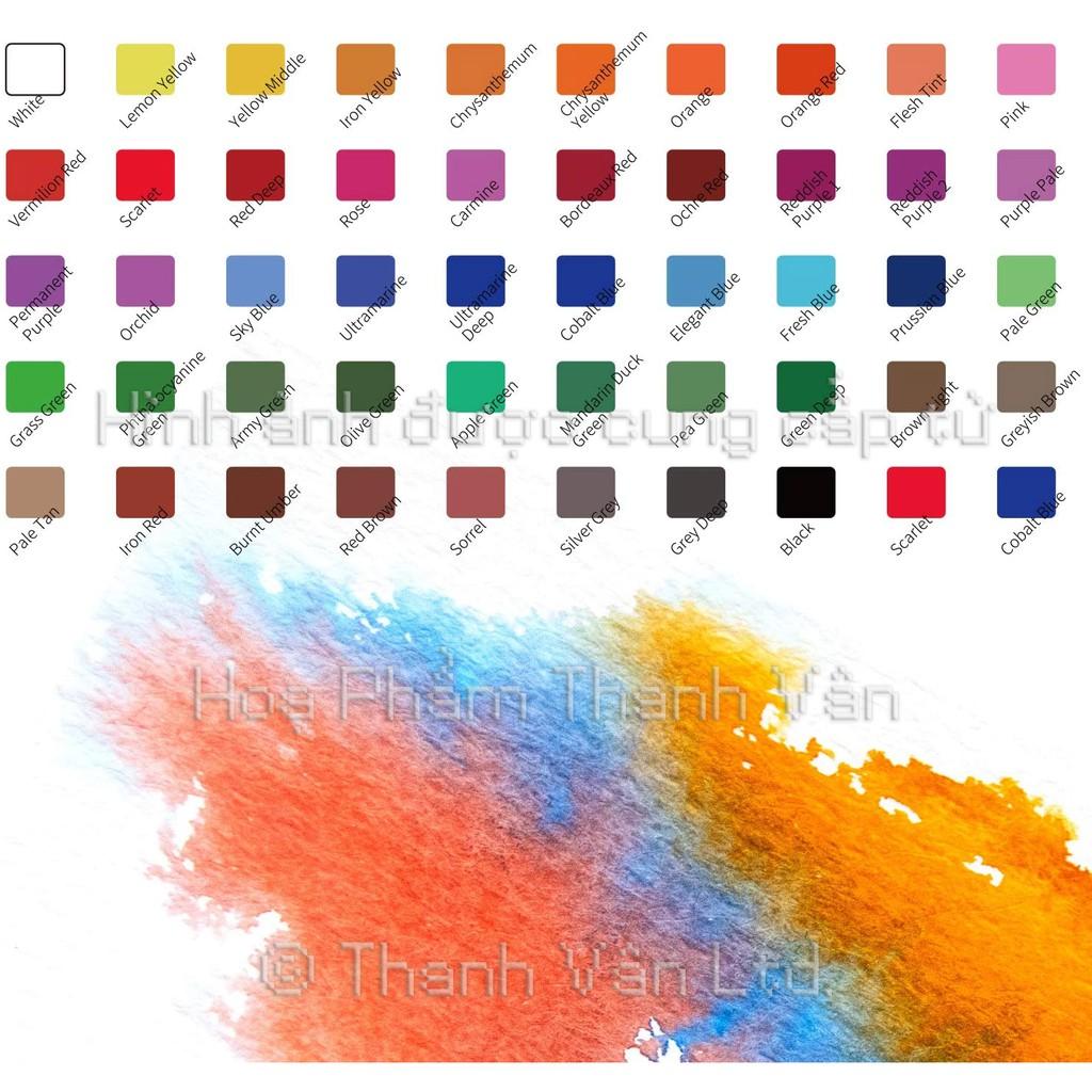 Màu nước Himi set 48∕36 màu TẶNG kèm cọ nước, tẩy, và sổ vẽ