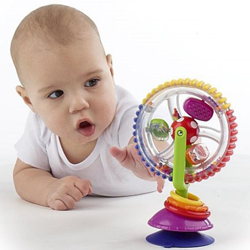 Cối xay gió đồ chơi 3 màu có đế chân không cho trẻ em
