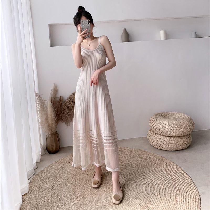 Mặc gì đẹp: Sang chảnh với Mới Đầm Hai Dây Mùa Hè Gợi Cảm Cho Nữ