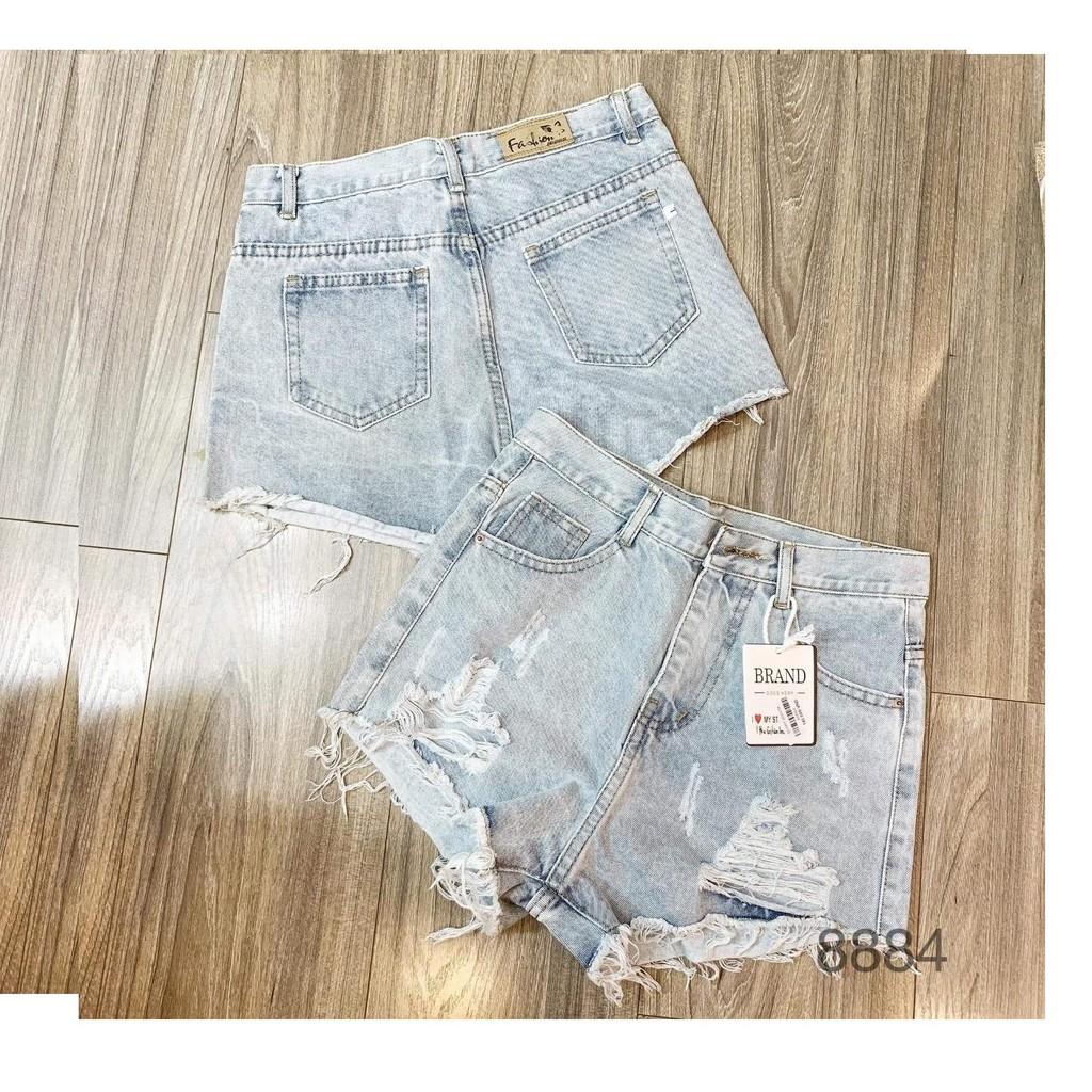 [Mã WASEPRN hoàn 20% xu đơn 99k] quần short jean nữ RÁCH 2 BÊN CÀO TƯA 02KH