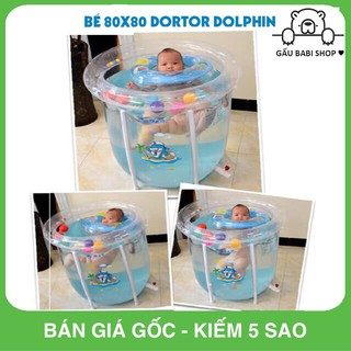FREE SHIP !!! Bể bơi thành cao Doctor Dolphin loại to (Tặng kèm phao, bơm, đồ chơi…)