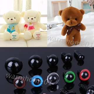 WM 50pcs/set Triangle Nose Round Safety Eyes with Washers for Bear Puppet Dolls Toy