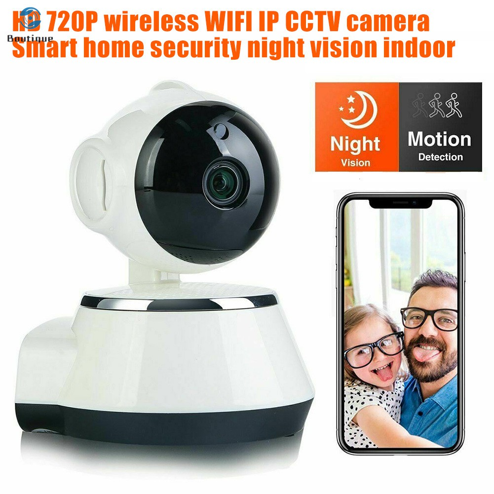 HD 720P Wireless WIFI IP CCTV Camera Smart Home Security Night Vision Indoor