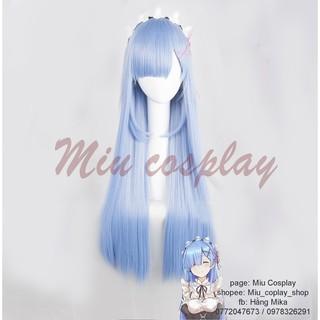 Tóc giả cosplay Rem ver tóc dài