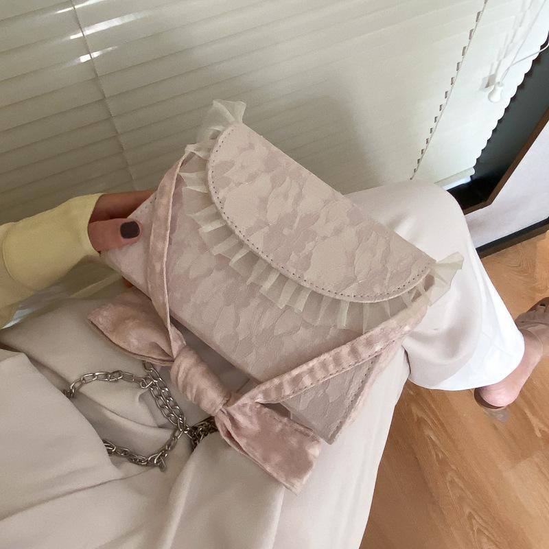 Túi Đeo Chéo JASMIN NOIR Kiểu Vuông Phối Dưới Dây Mỏng Thời Trang Cho Nữ