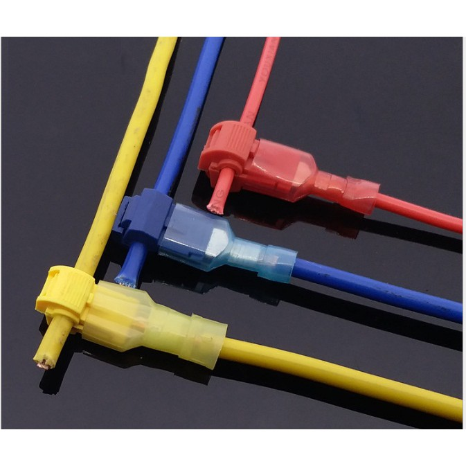 50 chiếc cút nối dây điện phân nhánh 2.5mm2 - T cắm