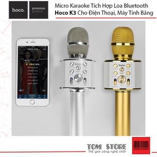 Mic Karaoke tích hợp Loa Bluetooth Hoco BK3 Cho điện thoại, máy tính bảng - BH 12 Tháng