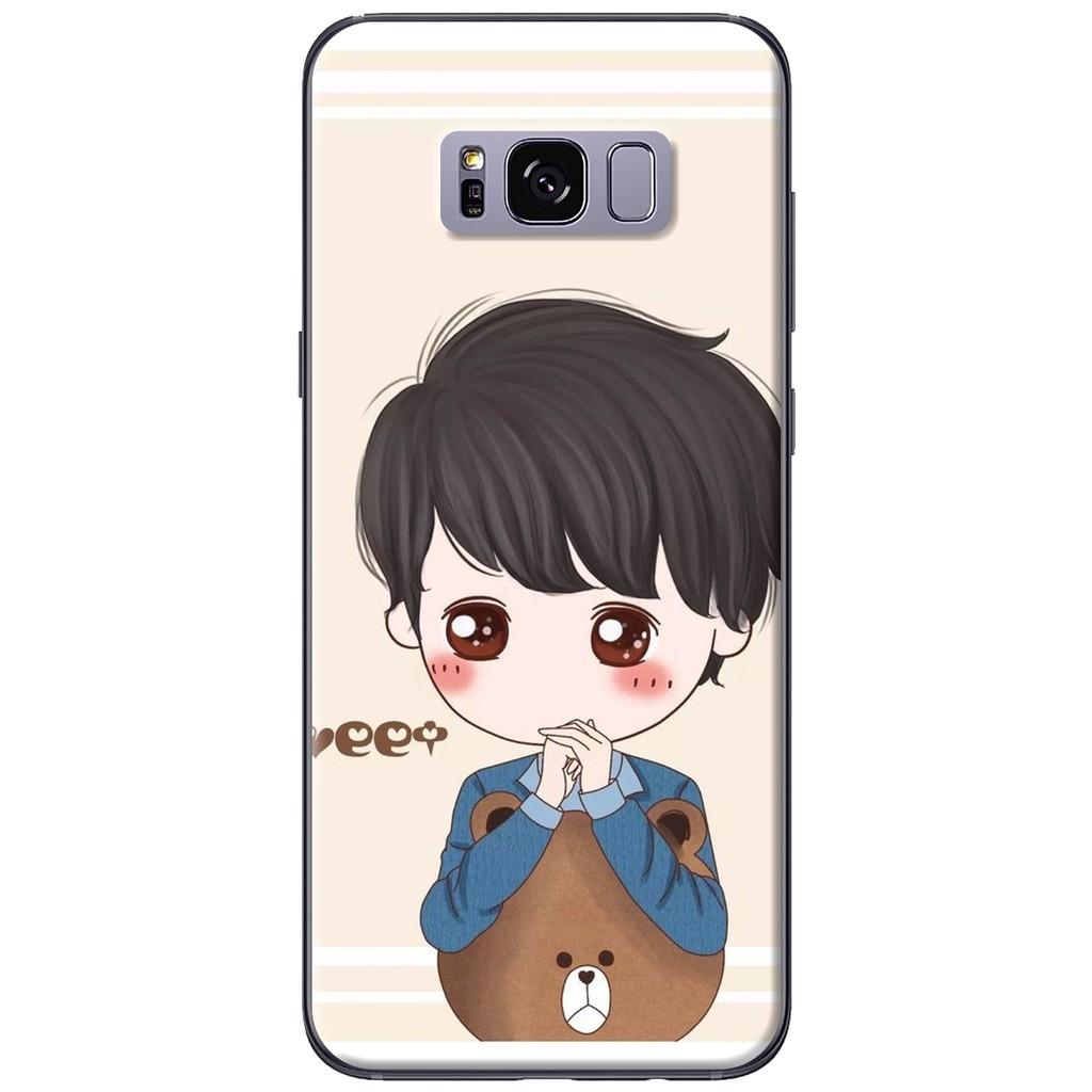 Ốp lưng Samsung S8/S8 plus Anh ôm gấu