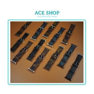 Dây đeo LV cho đồng hồ Apple Watch 1 2 3 4 5 6 size 38mm 40mm 42mm 44mm