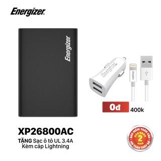 Sạc dự phòng Energizer XP26800AC - tích hợp 4 cổng outputs, công suất 100W