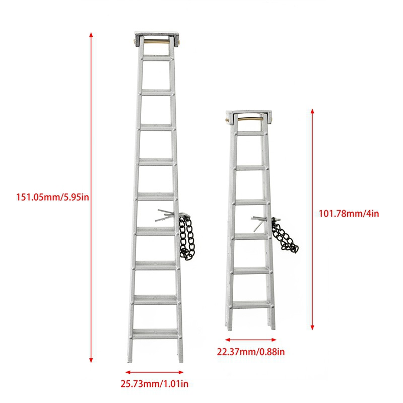 ☆In Stock 1/10 Scale Accessories Plastic Mini Folding Ladder for 1:10 RC Crawler Car Traxxas TRX4 Axial SCX10 Tamiya,100Mm