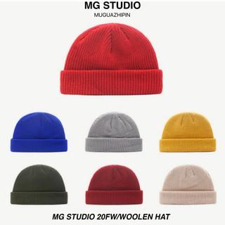 Mũ Len MG STUDIO Kiểu Dệt Kim Thiết Kế Đơn Giản Hợp Thời Trang Cho Nữ