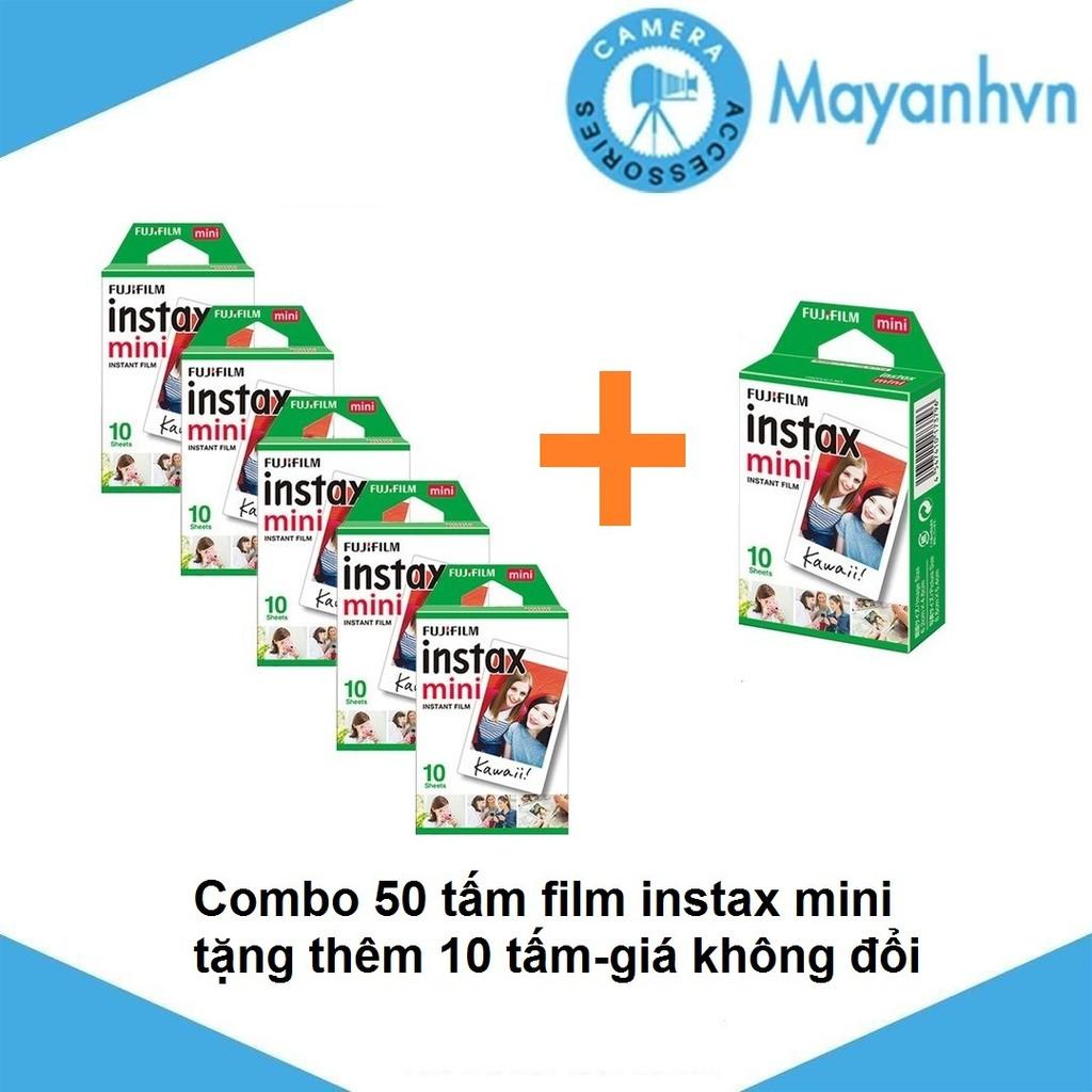 Combo 50 tấm film instax mini + tặng thêm 10 tấm