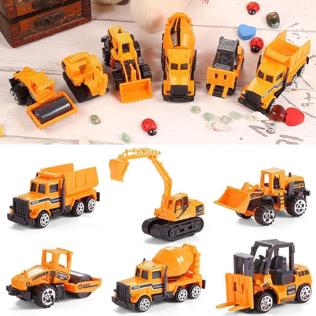 ❤COD Mini Construction Vehicle Engineering Car Dump-car Dump Truck Model Toy