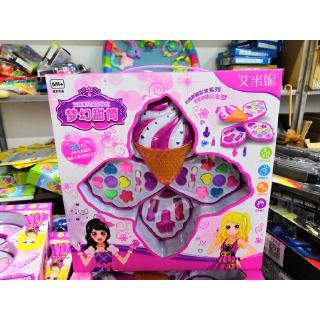 Emily Children's Makeup Dream Candy Tube Girl Princess Dream Eye Shadow Lipstick Blush DIY Toy