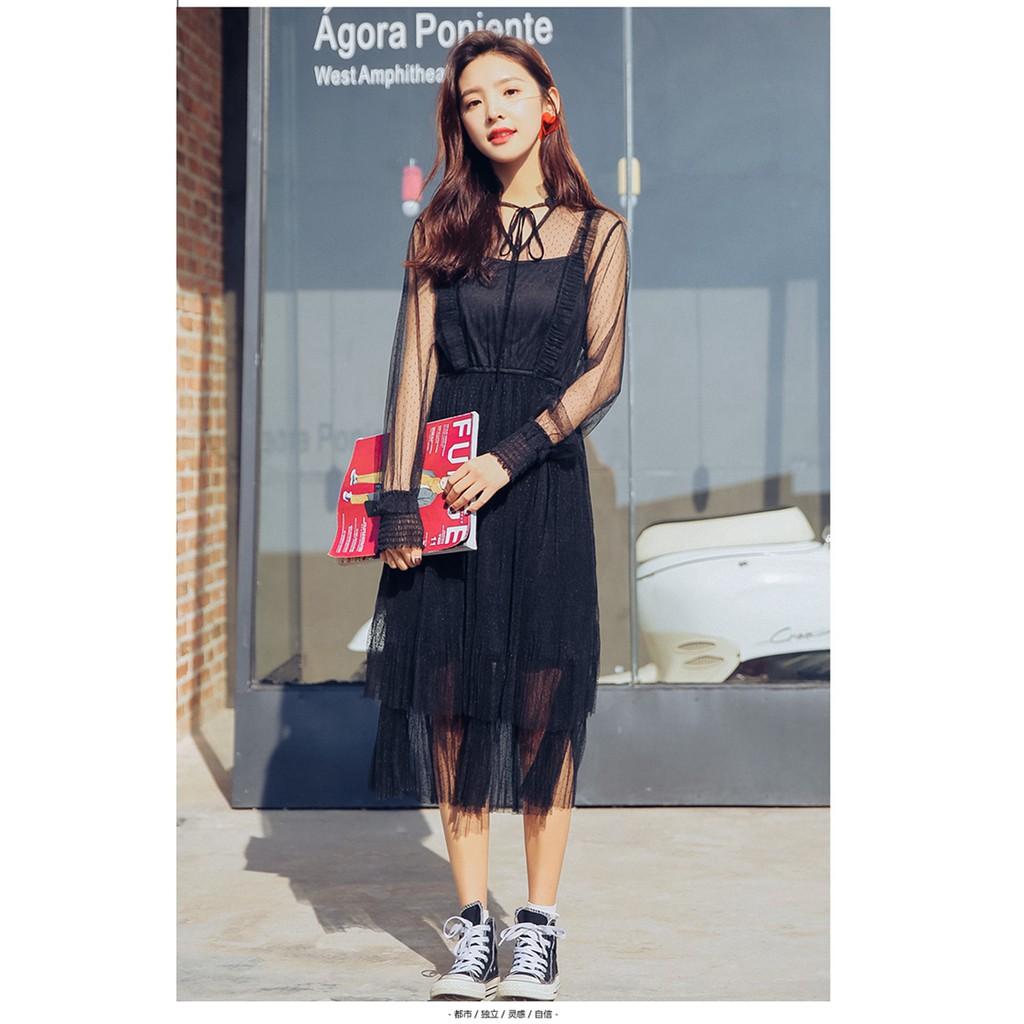 Đầm ren tay áo dài thắt nơ màu đen (có size) - 2571823 , 866067523 , 322_866067523 , 350000 , Dam-ren-tay-ao-dai-that-no-mau-den-co-size-322_866067523 , shopee.vn , Đầm ren tay áo dài thắt nơ màu đen (có size)