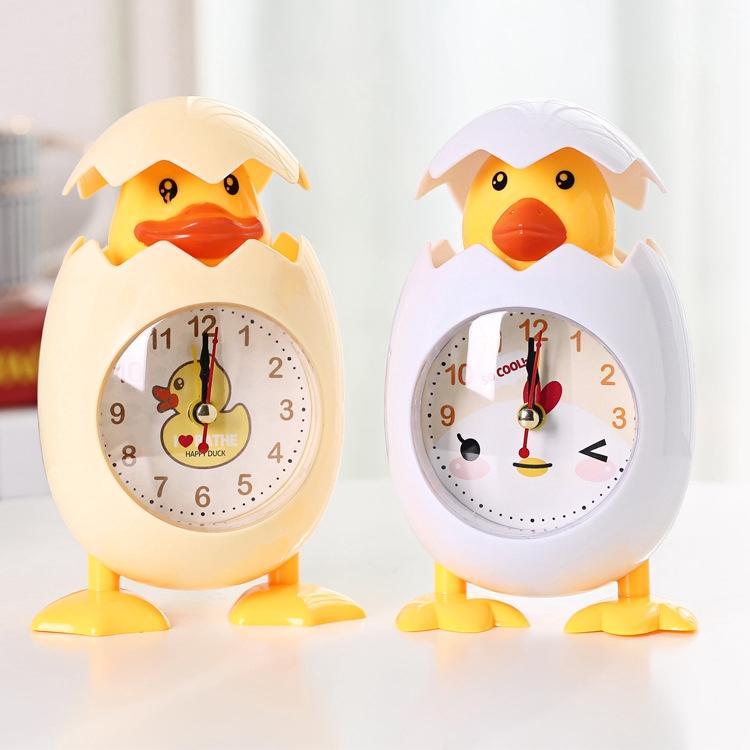 đồng hồ báo thức hình con gà hoạt hình