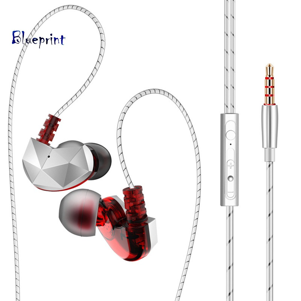 ☞BPQKZ CK6 Universal Noise Reduction Mic HiFi In-ear Wired Phone Music Earphones
