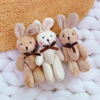 ✨HY 2 Cô gái dễ thương sang trọng Búp bê gấu con mềm mại Túi đeo chìa khóa Phụ kiện mặt dây chuyền