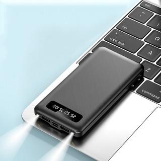 Sạc dự phòng dung lượng 10000mAh, 2 cổng USB 2.1A, có Đèn Pin, có đèn LED hiển thị dung lượng pin