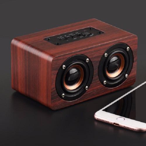 [Nhập Khẩu] Loa gỗ Super Bass Vi tính âm thanh nổi HIFI Stereo speaker -dc2179
