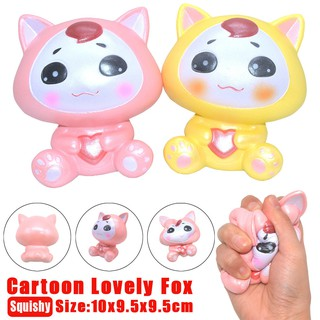 10cm Adorable Cartoon Fox Scented Squishy Slow Rising Squeeze Cure Toy Gift