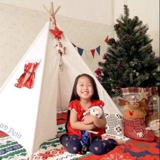 Lều vải Noel – MUA 1 ĐƯỢC 4. Mẫu Ông già Noel và tuần lộc. Tặng kèm dây cờ, ngôi sao và túi vải