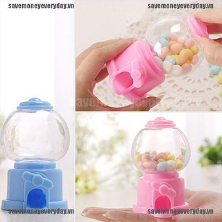 [Save] Mini sweet kids candy machine bubble gumball dispenser baby gift toys cute [VN]