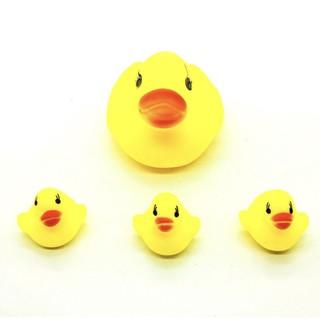 Bộ đồ chơi vịt thả bồn tắm 1 vịt mẹ và 3 vịt con
