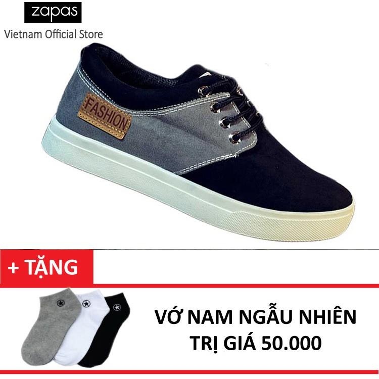 Giày Sneaker Thời Trang Nam Zapas GS050 (Đen) +Tặng Vớ Nam