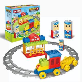Đồ chơi ghép hình tàu hỏa thành phố DUKA thumbnail
