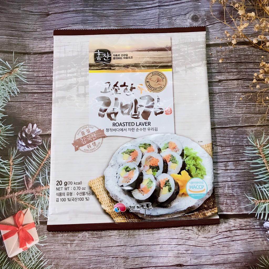 Rong Biển Cuộn Cơm Hàn Quốc K-Food 10 lá