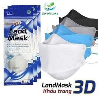 Khẩu Trang Tinh Dầu Xanh LAND MASK 3D Kháng Khuẩn ,Ngăn Bụi Mịn, HOT thumbnail